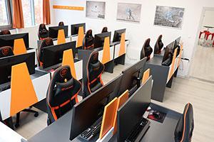 Unity játékfejlesztő tanfolyam oktató terem